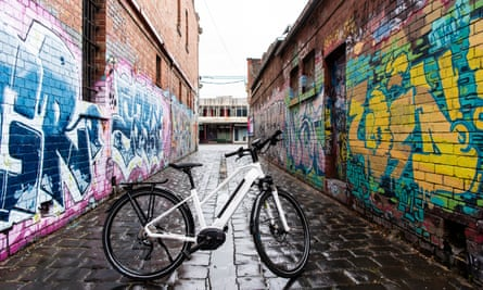 An e -bike in North Fitzroy.