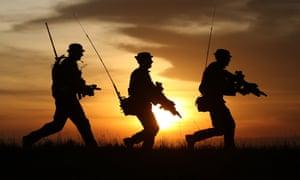 British soldiers on patrol.