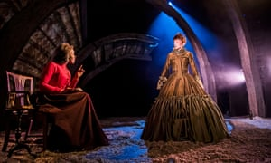 Emmanuella Cole (Dr Garrett) and Jodie McNee in Faustus: That Damned Woman.