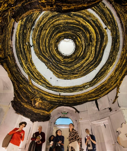 Inside Mark Bradford's US Pavilion at the 2017 Venice Biennale.