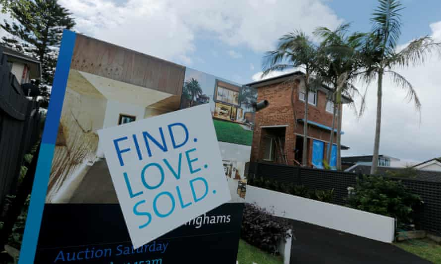A for-sale sign indicates a residential property sold in Sydney