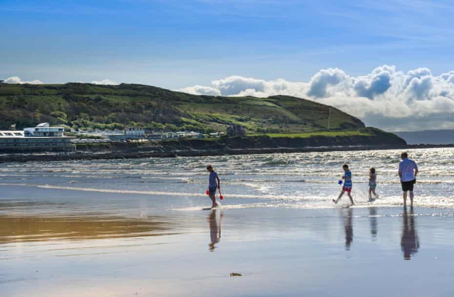 The expansive sandy beach at Westward Ho! in North Devon
