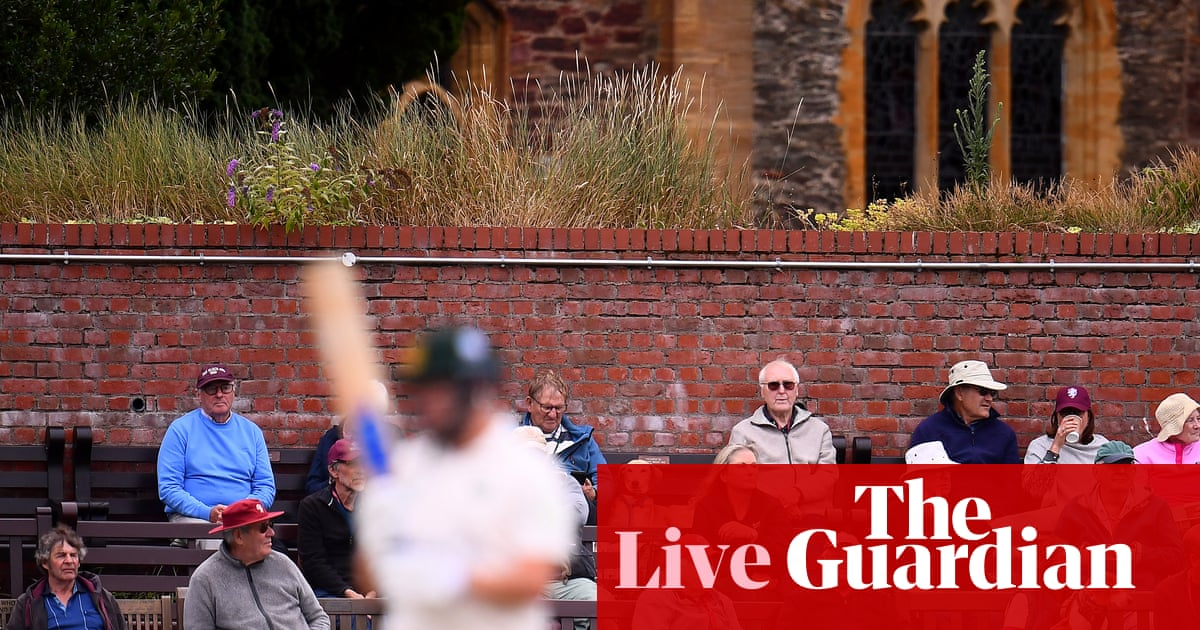 County cricket day two: Somerset v Notts, Lancs v Warks and more – live!