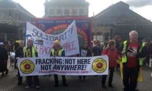Anti-fracking supporters