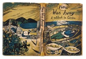The cover of Time Was Away: A notebook in Corsica by Alan Ross and John Minton Illustrated by John Minton.