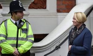Swedish Chief prosecutor Ingrid Isgren leaves the Ecuadorian Embassy in London, Britain, in November 2016.