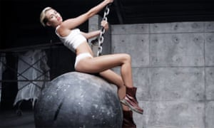 Intentional acts of destruction ... a still from Miley Cyrus's Wrecking Ball video (2013).