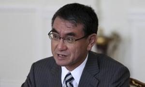 Taro Kono, the Japanese foreign minister