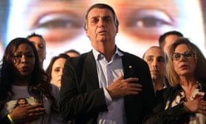 Bolsonaro leads in the polls.