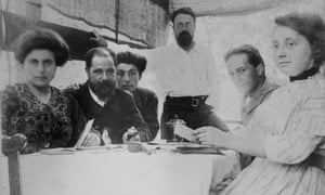 Artists Etienne Terrus (seated) and Henri Matisse (standing)