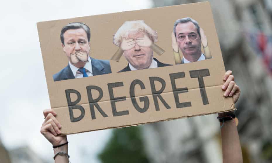 an anti-Brexit march in London in July.