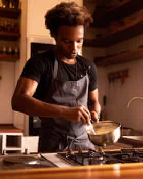 Elégbèdé helped out at his mother's restaurant and bakery in the US before his formal training and working in Michelin-starred restaurants.