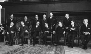 Representatives of the six member nations of the Common Market, The Hague, 1969.