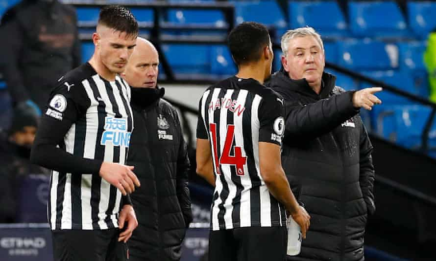 Steve Bruce said Newcastle showed 'a togetherness' in defeat to Manchester City on Boxing Day.