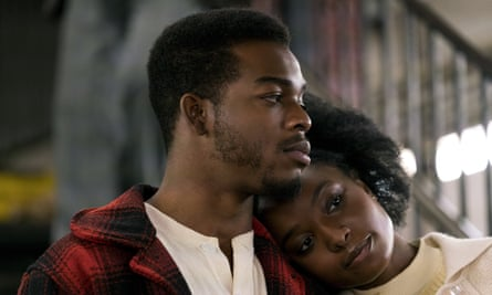 Layne with Stephan James in If Beale Street Could Talk.