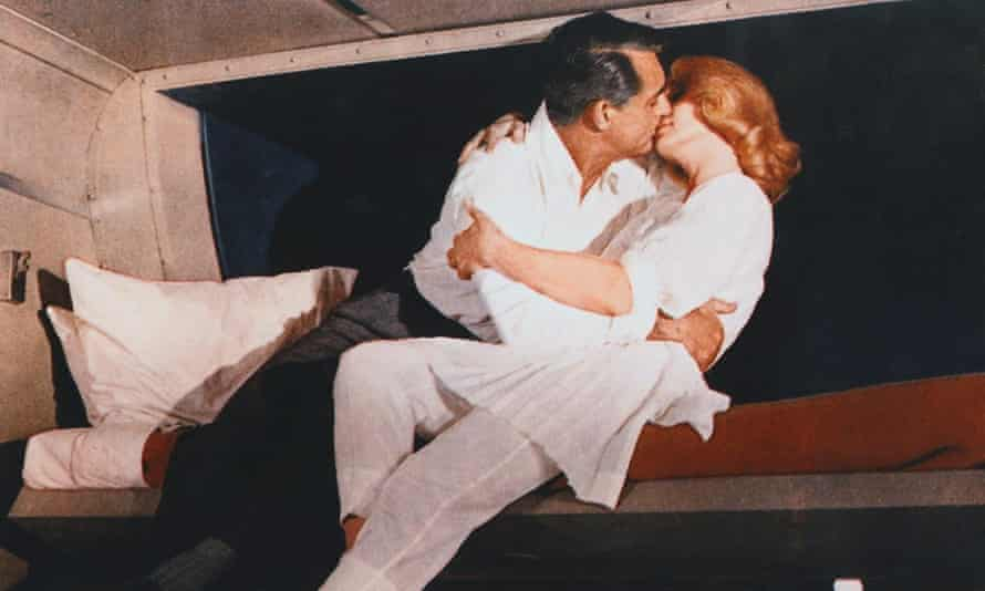 Cary Grant and Eva Marie Saint on a sleeper train in 1959 film North by Northwest,