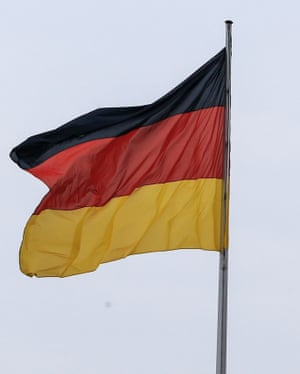 The flags of Germany.