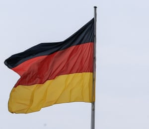 The flag of Germany.