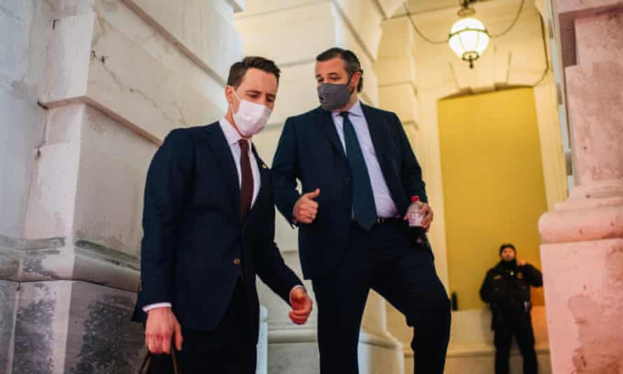 Republican senators Josh Hawley and Ted Cruz on Saturday. Both times the acquittals felt virtually inevitable, given Trump's Republican allies remained largely loyal.