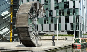 The Rolling Bridge in Paddington Basin.
