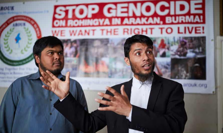 Deen Mohammed Noori (right) and Abdul Rahim Muhammad-Usmain, two Rohingya Muslims who left Myanmar and settled in Bradford.