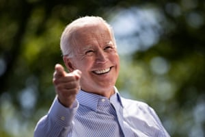 Democratic presidential candidate Joe Biden speaks at a campaign kickoff rally on 18 May 2019 in Philadelphia