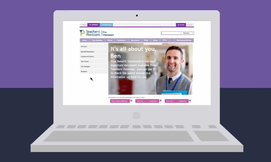 Teachers' Pensions website