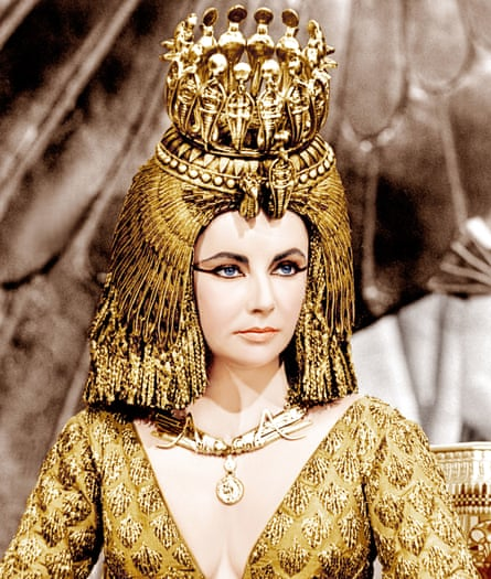 Kohl-eyed: Elizabeth Taylor as Cleopatra in the 1963 film.