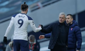 Gareth Bale and José Mourinho
