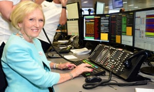 Mary Berry taking part in the 13th BGC Annual Charity Day at Canary Wharf in London today