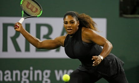 Hard hitting: Serena Williams in action.