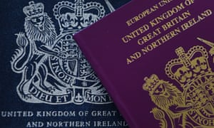 red and blue passports