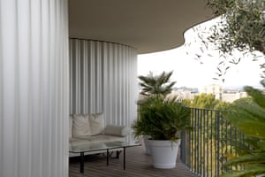 A balcony of La Folie Divine.