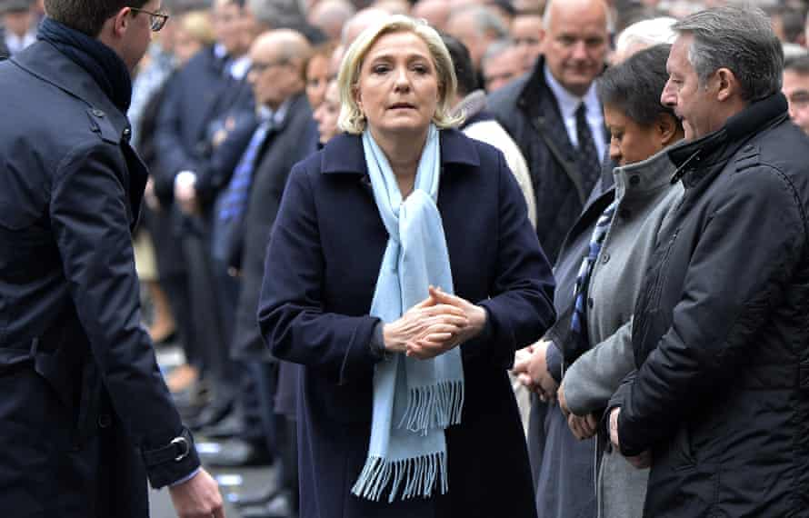 Marine Le Pen, who on Tuesday stepped aside as leader of the far-right Front National party