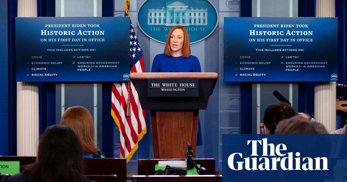 Jen Psakis first White House press briefing heralds return to normality | David Smiths sketch