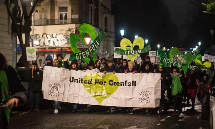 The Grenfell Silent Walk making its way around North Kensington last month.