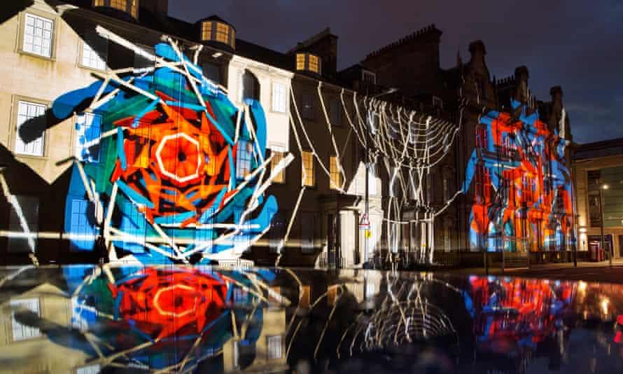 Edinburgh International festival's visual spectacle Bloom in 2017.