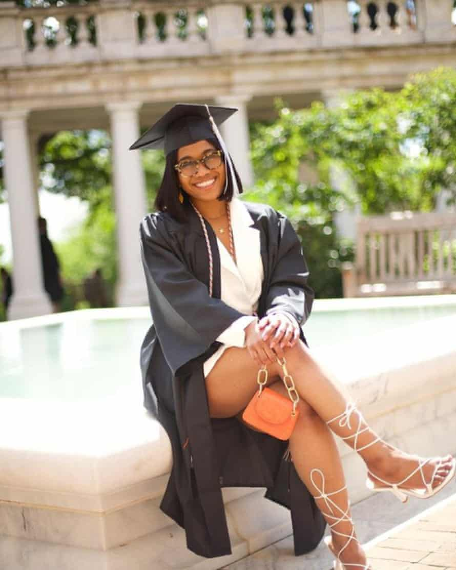 Nia Augustine is the first in her family to graduate from college.
