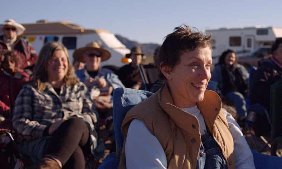 Frances McDormand in Nomadland.