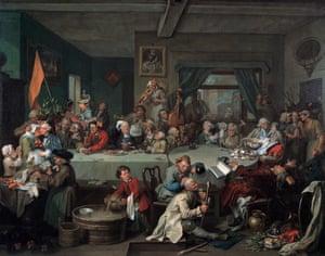 William Hogarth's An Election I, 1754