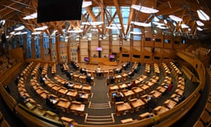 Nicola Sturgeon speaks during first minister's questions at the Scottish parliament in Edinburgh