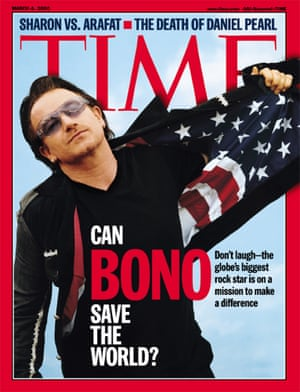 Time magazine cover of the March 4, 2002 Time Magazine, featuring U2 front man Bono,