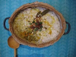 The perfect vegetable biryani.