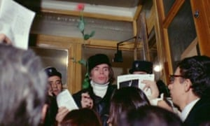 Charismatic … Nureyev is mobbed at the stage door