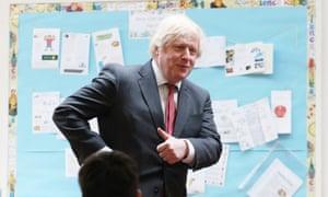 Boris Johnson, pictured visiting a primary school
