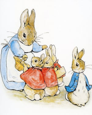 Beatrix Potter's 1902 painting of Peter Rabbit.