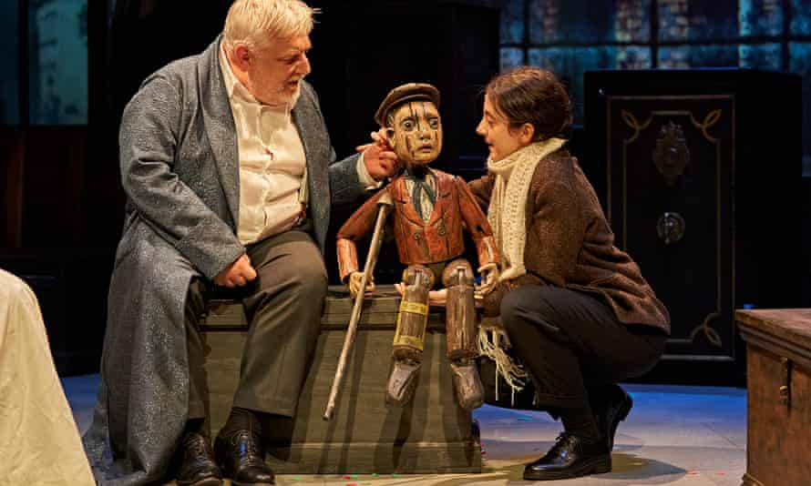 Simon Russell Beale and Patsy Ferran in A Christmas Carol at the Bridge theatre, London.