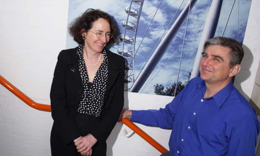 David Marks and Julia Barfield, designers of the London Eye, at their offices.