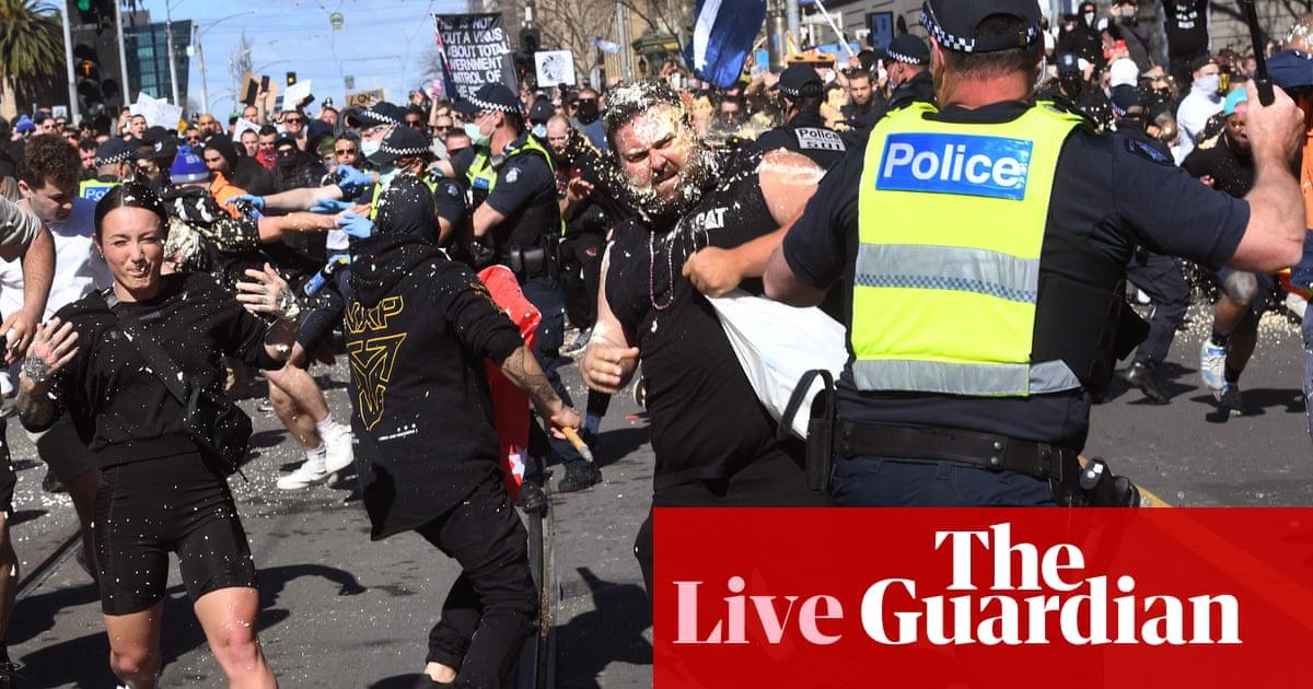 Coronavirus live: UK expert calls for 'strategic' booster jabs; anti-lockdown clashes in Australia