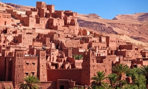 Aït Benhaddou pink-walled    'fortified city',